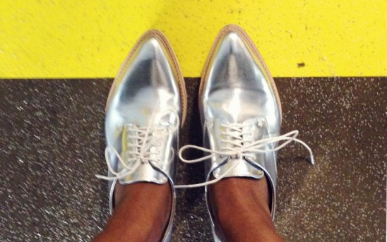 Current Obsession // Metallic Brogues